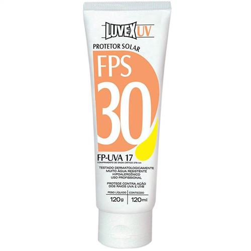 Protetor Solar Luvex Uv Fps 30 Fp-Uva 17 New 120Ml