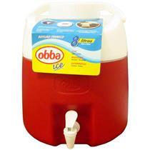 Botijão Térmico Obba Ice 8 Litros Vermelho Com Torneira