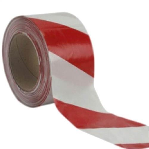 Fita Zebrada Plastcor Vermelha E Branca