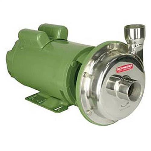 Bomba Mono Estágio Schneider Em Aço Inox Mci-Rq Ip-55 3 Cv Monofásica 110/220V Com Capacitor