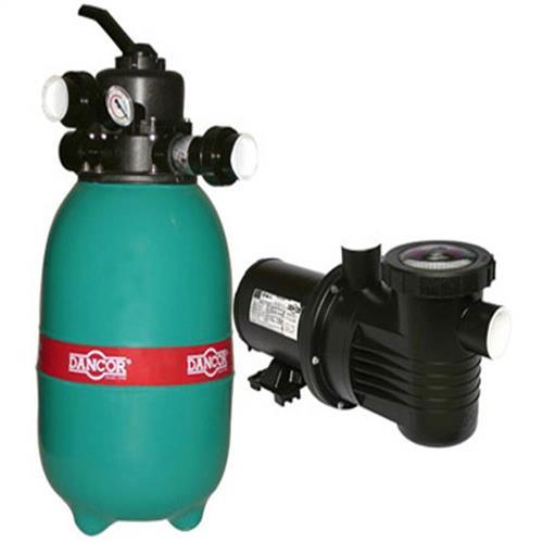 Conjunto Filtro Bomba E Areia Para Piscina Dancor Dfr-12 Com Bomba De 1/4 Cv Monofásica 110/220V - 20120058023