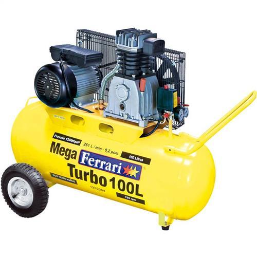 Compressor De Ar Mega Turbo Ferrari C-100L