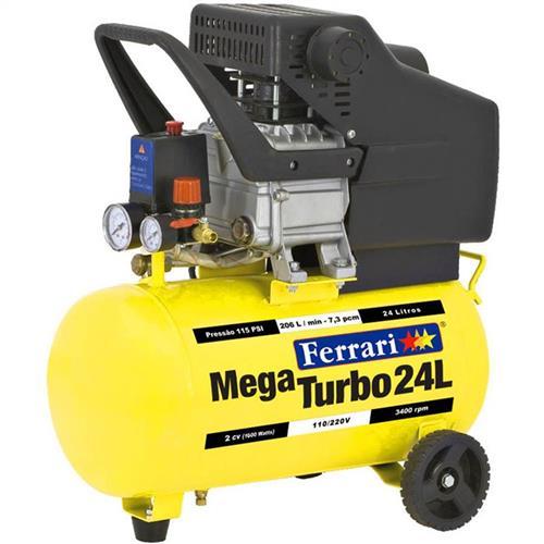 Compressor De Ar Mega Turbo Ferrari C-24L