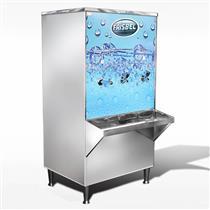 Bebedouro Industrial Frisbel 100 Litros Coluna Inox 3 Torneiras Refrigerado 220V