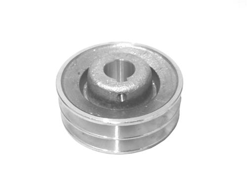 "Polia De Alumínio Para Motor 2 Canais Diâmetro De 60Mm E Furo De 3/4"" (19mm)"