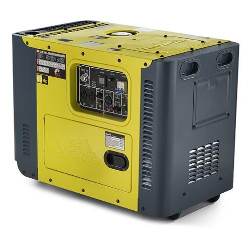 Gerador De Energia Toyama Tdg8000sle 13Hp 6,5Kva Monofásico 115/215V À Diesel Com Partida Elétrica E Ats
