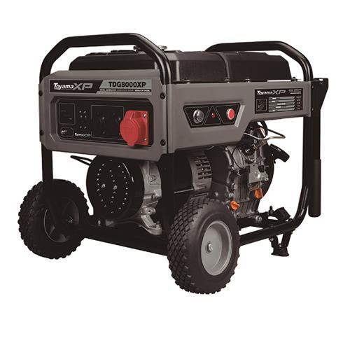 Gerador De Energia Toyama Tdg8000exp 12Hp 6,5Kva Monofásico 120/220V À Diesel Com Partida Elétrica