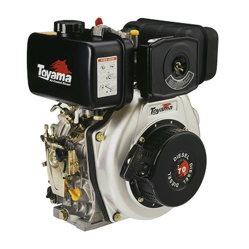 Motor Toyama Td70fo 7Hp 296Cc À Diesel Com Filtro De Ar Banhado À Óleo