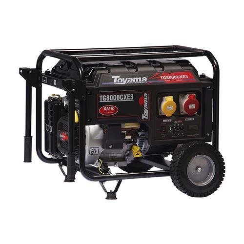 Gerador De Energia Toyama Tg8000cx3ed 15,0Hp 8,0Kva Trifásico 220V À Gasolina