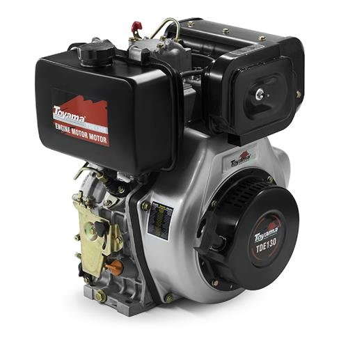 Motor Toyama Tde130e 13Hp 456Cc À Diesel Com Partida Elétrica