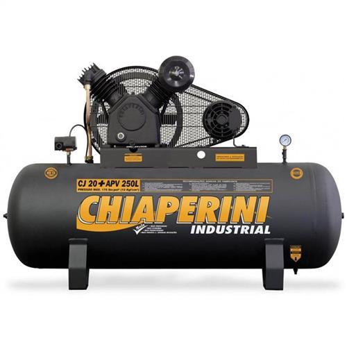 Compressor De Ar Alta Pressão Chiaperini Cj 20 5Hp 175 Psi Apv 250 Litros Trifásico 220/380V