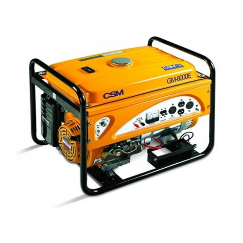 Gerador De Energia A Gasolina Portátil Csm 8.5 Kva 15 Hp 4 Tempos Com Partida Elétrica Monofásico Gm 8000E 110/220V