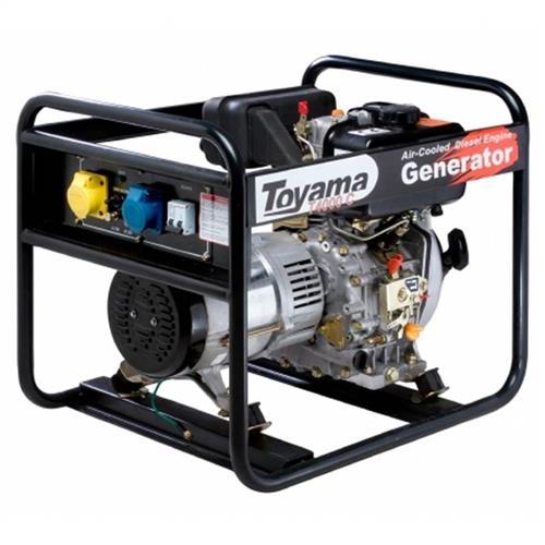 Gerador De Energia 5.0 Kva A Diesel 4 Tempos Part. Elétrica Td6000cs Toyama Monofásico 110V E 220V