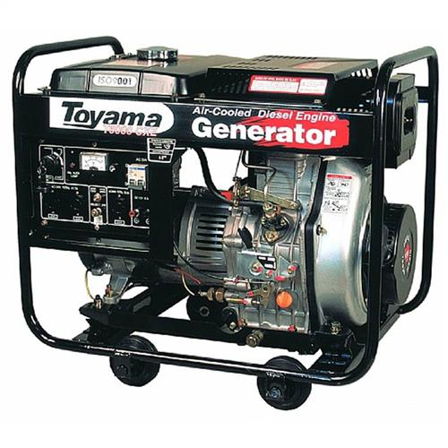 Gerador De Energia 5.2 Kva A Diesel 2 Polos Part. Elétrica Avr Td6000cx(E) Toyama Mono. 110/220V