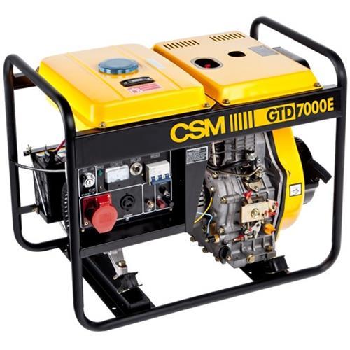 Gerador De Energia A Diesel Portatil Csm 9 Hp Gtd 7000E Trifasico 220V