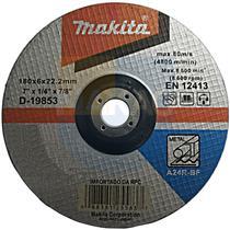 """Disco De Desbaste Makita Para Metal 7"""" Embalagem Com 5"""
