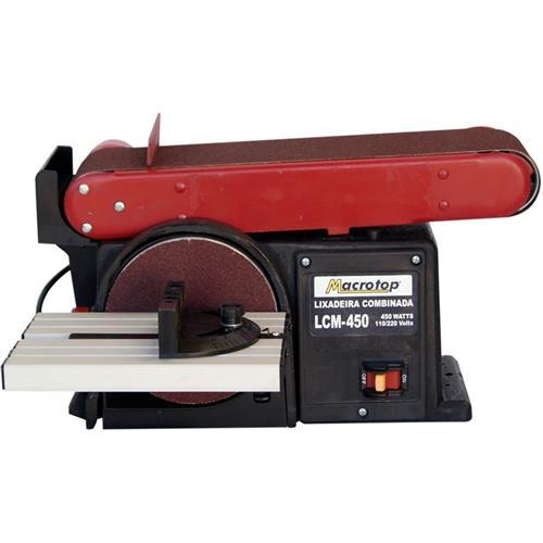 Lixadeira Comb. Bancada Macrotop Lcm-450 220V
