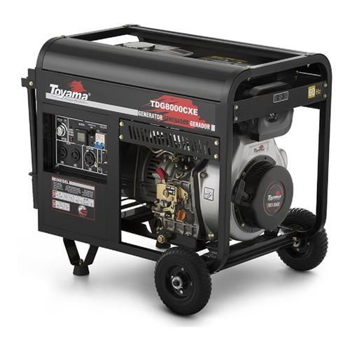 Gerador De Energia Toyama Tdg8000cxe3d 13Hp 8,1Kva Trifásico 220V À Diesel Com Partida Elétrica