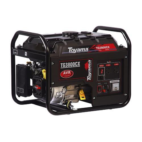 Gerador De Energia Toyama Tg3800cx 6,5Hp 3,1Kva Monofásico 120V/240V À Gasolina
