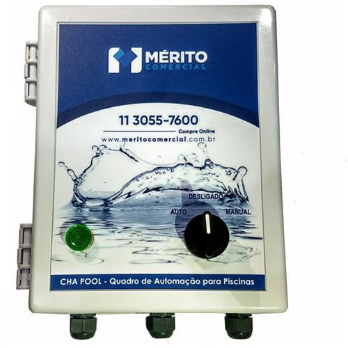 Quadro De Comando Mérito Comercial Cha Pool 0,75 / 1,0 Cv Trifásico 220V Para 1 Motor